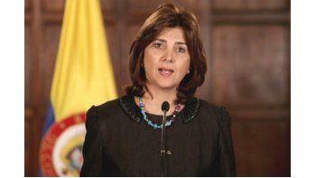 María Ángela Holguín, canciller de Colombia.