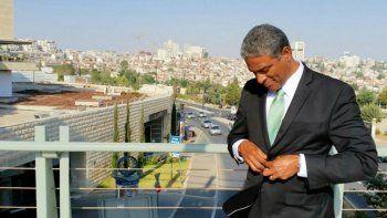 Oscar Elías Biscet, opositor cubano, de visita en Israel.