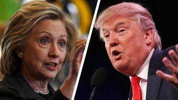 Hillary Clinton y Donald Trump, candidatos a la presidencia de los EEUU