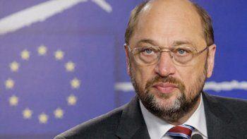 El presidente delParlamentoEuropeo, el alemán Martin Schulz