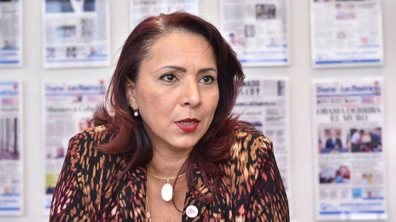 Helene Villalonga, presidenta de la Asociación de Madres y Mujeres Venezolanas en el Exterior