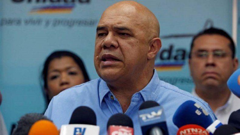 El Secretario General de la MUD, Jesús Chuo Torrealba exige a las autoridades gubernamentales garantizar la seguridad