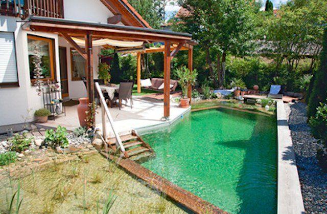 Se puede tener una piscina en un jard n peque o hogar for Decoracion de jardines con alberca