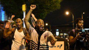 Las calles de Charlotte, Carolina del Norte, vivieron varias maniestaciones a propósito de los incidentes de presunta violencia policial acontecidos en esa ciudad.