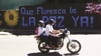 Un mensaje de paz en San vicente de Caguán, una ciudad que por mucho tiempo fue la capital de las FARC.