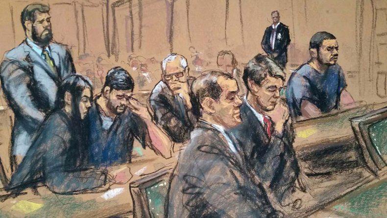 Ilustración sobre una de las audiencias en las que han comparecido los Flores