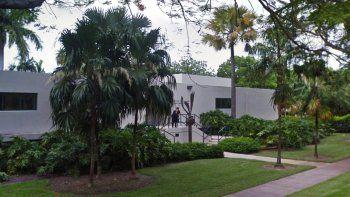 Vista parcial de Casa Bacardí, en UM, donde radica elInstituto de Estudios Cubanos y Cubanoamericanos.