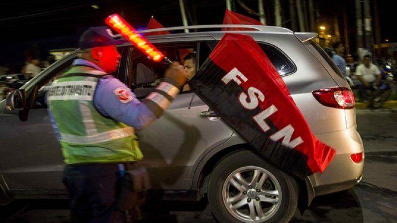 Celebraciones el domingo en la noche por triunfo de Daniel Ortega