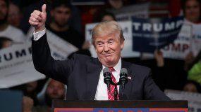 El presidente electo Donald Trump, durante un acto de campaña en Michigan.