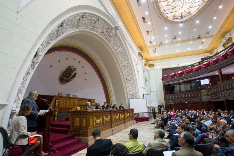 Sesión del martes en la Asamblea Nacional de Venezuela
