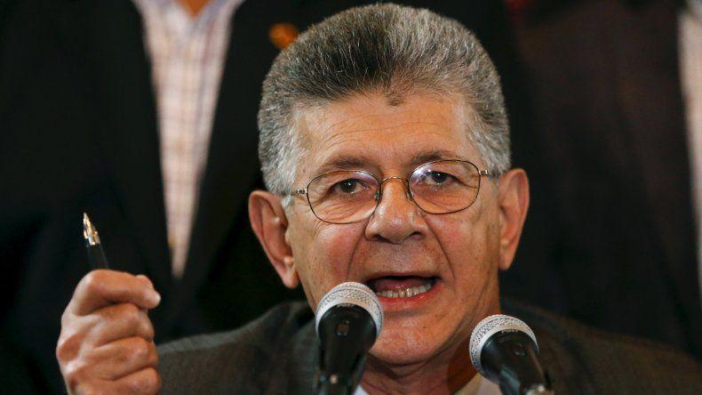 El presidente de la Asamblea Nacional de Venezuela Henry Ramos Allup