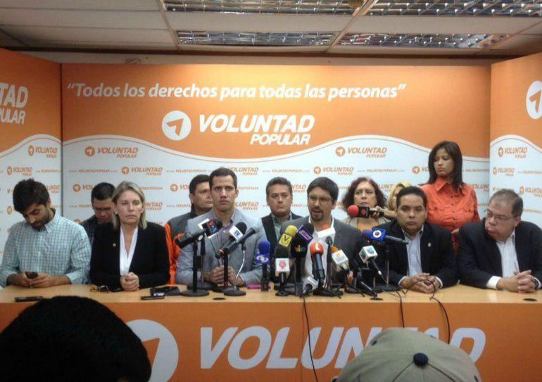 Voluntad Popular asume la tarea de presentar (este planteamiento) a toda la Unidad
