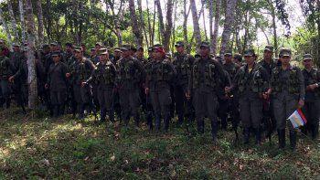 Fotografía cedida por la Misión de Onu en Colombia de la llegada de los últimos guerrilleros de lasFARC.