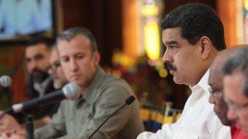Imagen de archivo del presidente venezolano Nicolas Maduro y el vicepresidente Tareck El Aissami.