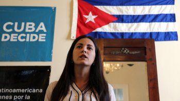 RosaMaría Payá hija del fallecido disidente Oswaldo Payá.
