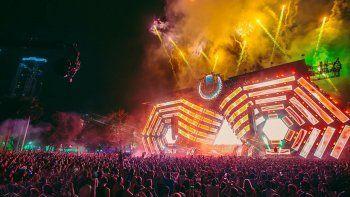 Aspecto del Ultra Music Festival que se realiza en Miami.