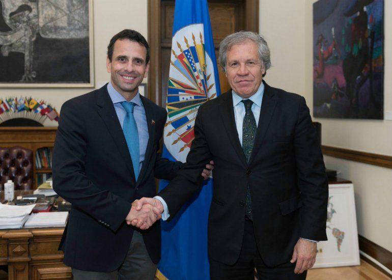 Resultado de imagen para luis almagro con opositores venezolanos
