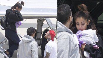 Ariana Grande llegó este martes en un vuelo privado a Boca Ratón, Florida, donde la esperaba su novio, el rapero estadounidense Mac Miller.