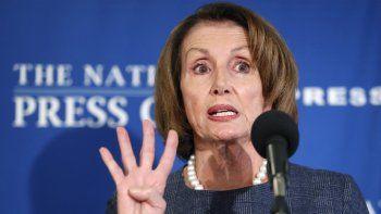 Nancy Pelosi, líder de la minoría demócrata en el Senado de los EEUU.