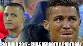 Cristiano Ronaldo fue víctima de Chile como también lo fue Lionel Messi en la Copa América.