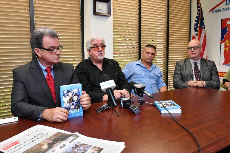 <p>Ramón Saúl Sánchez, Jorge A. García, Iván Prieto y Orlando Gutiérrez, durante la presentación del libro</p><p></p>
