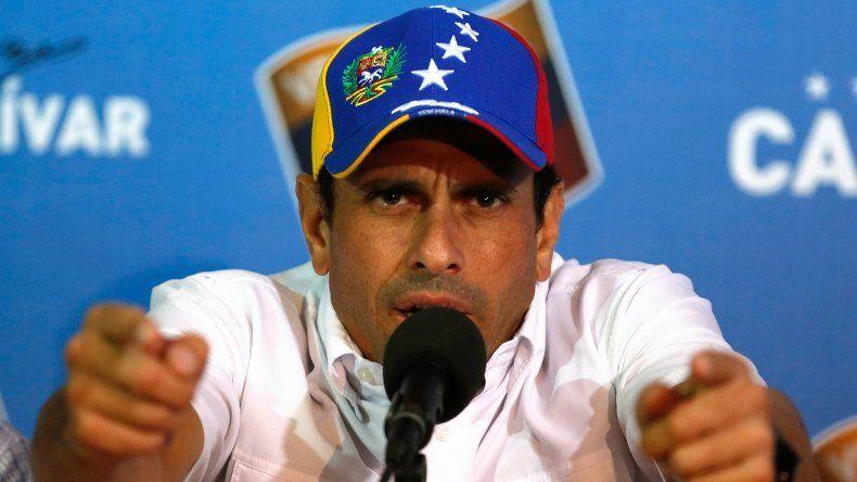 Henrique Capriles, líder opositor venezolano y gobernador del estado de Miranda.