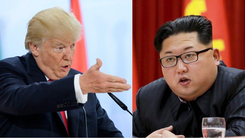 Donald Trump, presidente de EEUU, y el líder norcoreano Kim Jong Un.