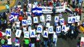 Miles de campesinos protestan por la construcción del Canal Interoceánico.