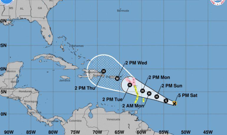 La tormenta tropical María podría ser una amenaza para Haiti y Puerto Rico.