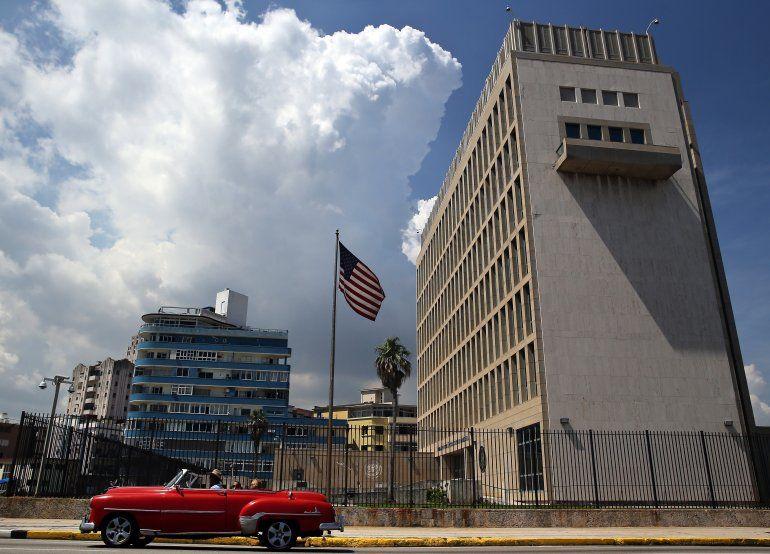 Vista panorámica de la embajada de EEUU en La Habana