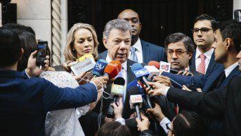 Santos dijo que la reunión fue muy cordial, donde cada uno de los participantes expresó sus opiniones sobre Venezuela.