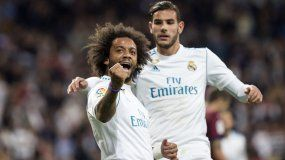 El lateral brasileño, Marcelo, vino del banco de suplentes para ponerle cifras definitivas a la victoria blanca.