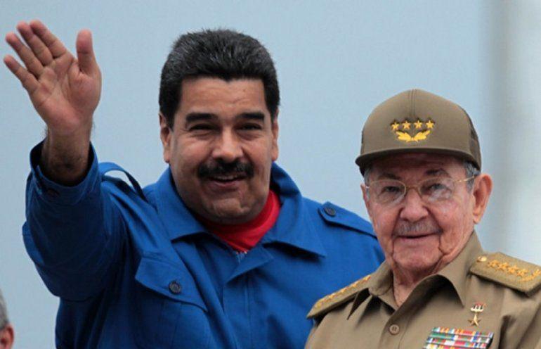 Los presidentes de Cuba y Venezuela