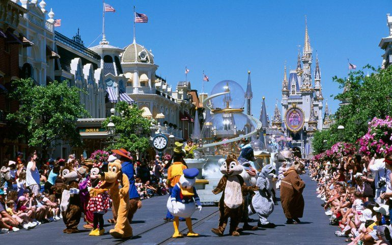 Vista parcial de Main Street, en Disney World.