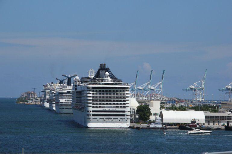 <p>Por Port Miami pasan cada año más de cinco millones de pasajeros. </p><p></p><p></p>
