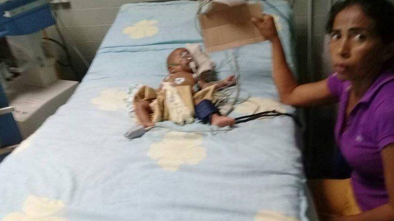 Un bebé en el Hospital Universitario de Maracaibo (HUM).