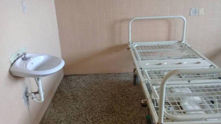 Una de las salas del hospital.