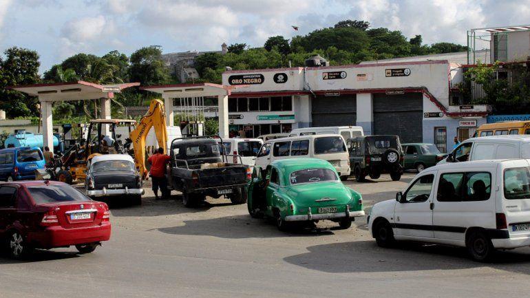 Fotografía del 11 de septiembre de 2019 de una estación de combustible en La Habana, Cuba.