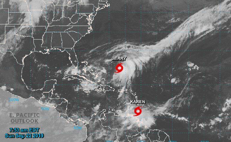 El Centro Nacional de Huracanes  informó sobre la formación de la Tormenta Tropical Karen en el Océano Atlántico