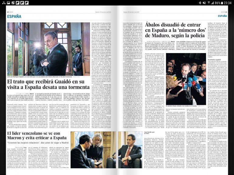 Paginas centrales del Diario ABC de España-