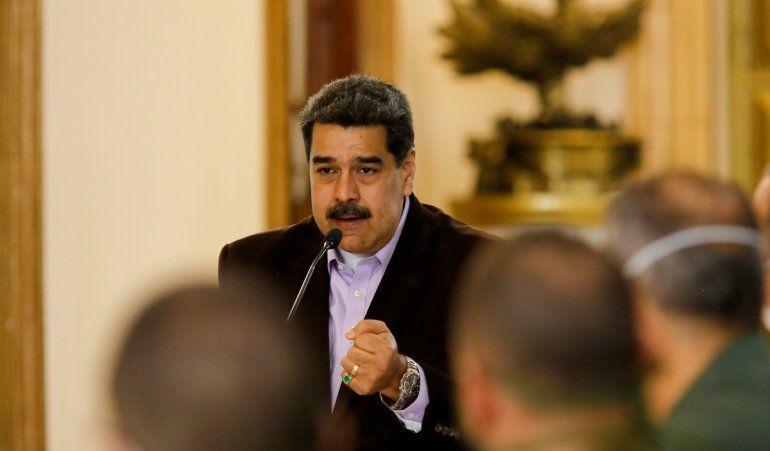 Fotografía del 16 de marzo de 2020 del dictador venezolano Nicolás Maduro durante una comparecencia desde el Palacio de Miraflores, en Caracas.