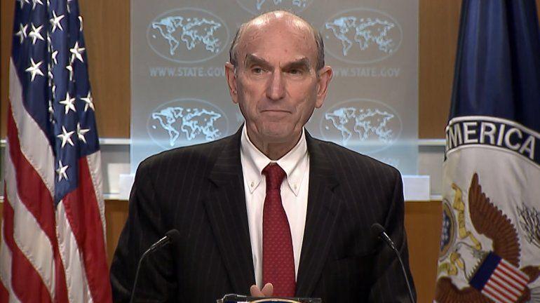 Elliott Abrams, enviado especial de EEUU para Venezuela, durante una conferencia de prensa en el Departamento de Estado.