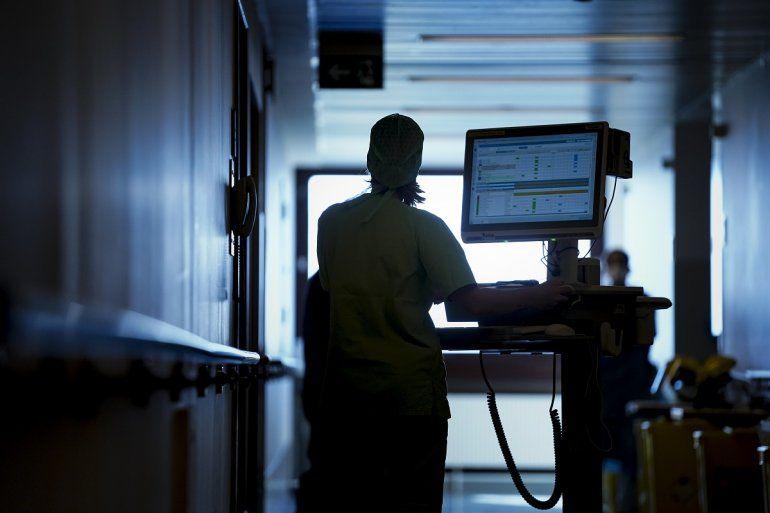Personal de salud del Erasme Hospital, en Bruselas, Bélgica, el 25 de marzo de 2020.