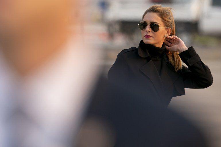 Hope Hicks, consejera del presidente Donald Trump, a su llegada al Aeropuerto Internacional de Reno-Tahoe, en Reno, Nevada, el sábado 12 de septiembre de 2020.