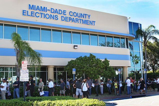 Resultado de imagen para foto de precinto electoral de miami dade