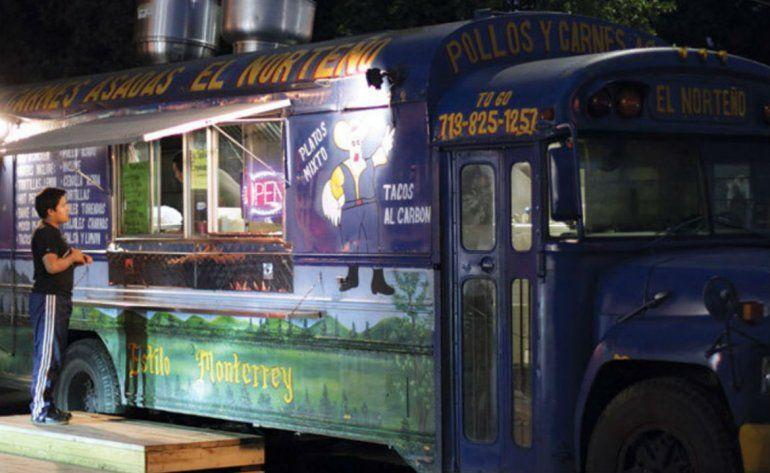 Camiones De Venta De Tacos Símbolo Contra Discurso De Trump