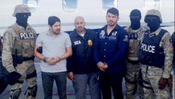 Imagen de Efraín Antonio Campo Flores y de Franqui Francisco Flores De Freitas, sobrinos de la primera sama de Venezuela, Cilia Flores, detenidos por su vínculo con el narcotráfico.