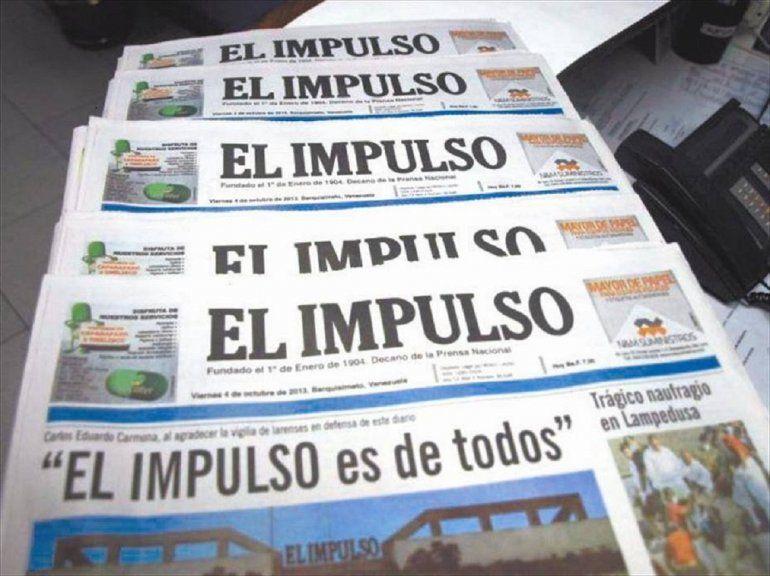 Resultado de imagen para El diario venezolano El Impulso de Venezuela