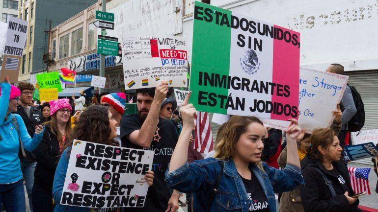 Resultado de imagen para caravana migrantes anti Trump