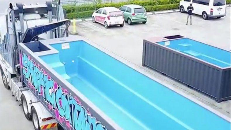 Piscinas a domicilio hechas con contenedores reciclados for Videos porno en las piscinas